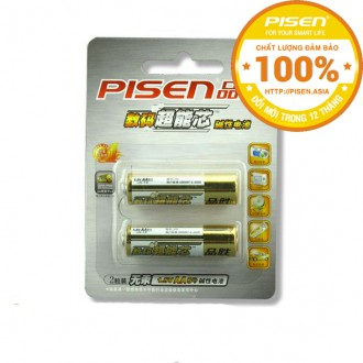 Pin Alkaline Pisen chuẩn AA - Vỉ 2 viên