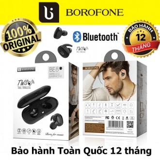 Tai nghe bluetooth TWS Borofone BE8, kèm hộp sạc không dây
