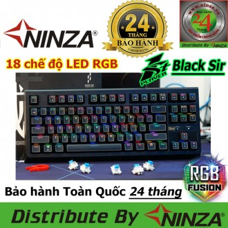 Bàn phím cơ 1stPlayer K7 Black Sir Led RGB