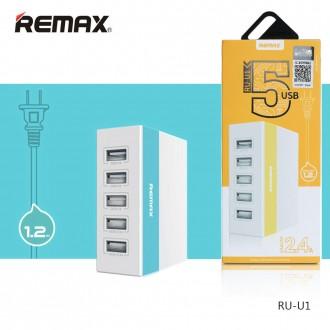 Củ sạc nhanh 2.4A chính hãng Remax 5 cổng usb