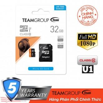 Thẻ nhớ MicroSD TeamGroup 32gb Class 10 - Bảo hành 2 năm