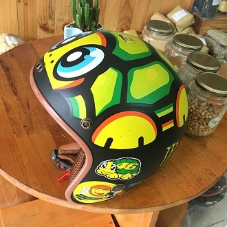 Mũ bảo hiểm BullDog 3/4 tem rùa