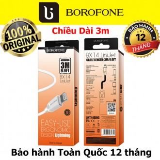 Cáp sạc iphone dài 3m Borofone BX14