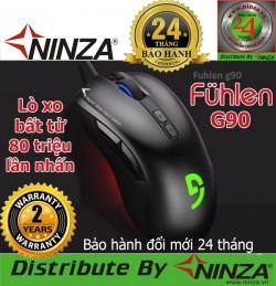 Chuột chuyên game Fuhlen G90, Lò xo Bất Tử 80 triệu lần nhấn - Hàng Ninza phân phối