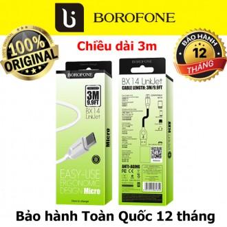 Cáp sạc Android dài 3m Borofone BX14