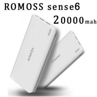 Sạc dự phòng chính hãng Romoss Sense 6 20.000mah