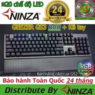 Bàn phím cơ Geezer GS3 LED RGB + Kê tay
