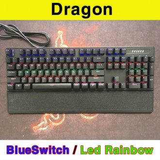 Bàn phím cơ Dragon hàng nội địa - Phím cơ Dragon BlueSwitch Led Rainbow