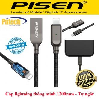 Cáp sạc Iphone Pisen  Intelligent Power-Off ( Tự động ngắt khi sạc đầy pin điện thoại)
