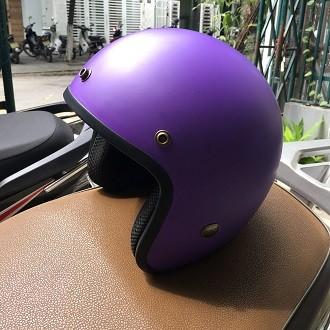 Mũ bảo hiểm BullDog 3/4 màu tím