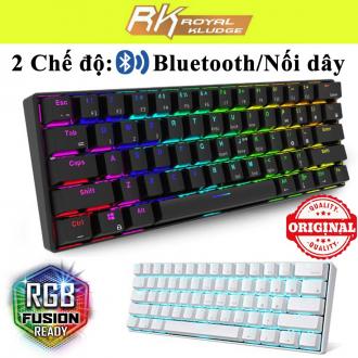 Bàn phím cơ Bluetooth / Usb Royal Kludge RK61/ Bàn phím không dây RK61