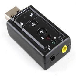 Card âm thanh cổng USB có nút tăng giảm âm lượng