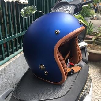 Mũ bảo hiểm BullDog 3/4 màu xanh
