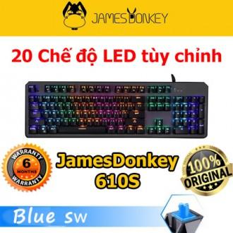 Bàn phím cơ James Donkey 610S chính hãng Led Rainbow, BlueSwitch.