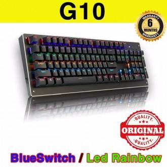 Bàn phím cơ G10 hàng nội địa - Phím cơ G10 BlueSwitch Led Rainbow