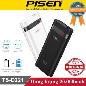 Sạc dự phòng Pisen Cube TS-D221 20.000mah